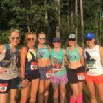 6 Oiselle Volee runners before Treead Brightly