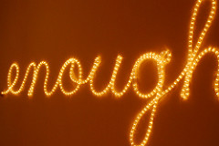 enough written in lights