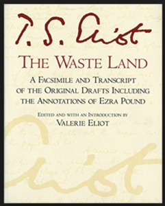 Cover of the paperback edition of the facsimile edition of T. S. Eliot's poem The Waste Land